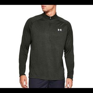 Under Armour mens heatgear 3/4 zip pullover